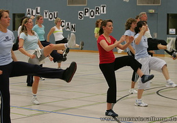 Fitneß unter dem Motto 'All you can sport'.